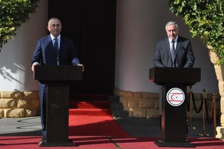 Cavusoglu and Akinci = Support of Turkey