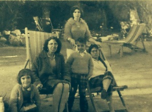 Ertan, Gunay with cousins Sezgin and Gulsun and Auntie Hatik mother's sister)