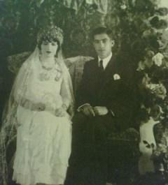 Yusuf and Nahide wedding in 1934