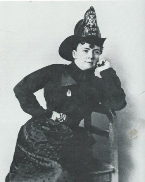 Lillie Hitchcock Coit in her fire engine uniform