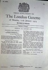 London Gazette 2