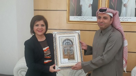 Emine Colak and Education Minister of Qatar Al Hammadi