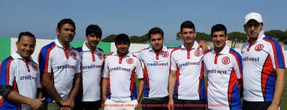 Gentlemen of Girne after beating Cyprus International University