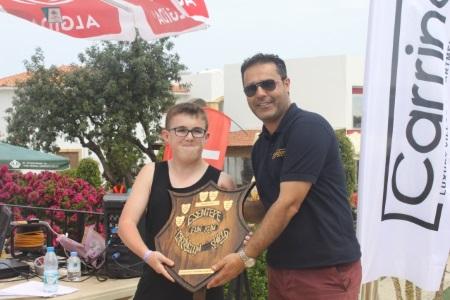 Kai Fletcher receives the Carrington Shield