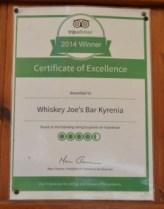 Trip Advisor - Whiskey Joe's