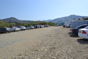 Car Park on dry river bed