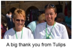 A big thank you from Tulips