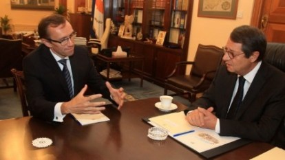 Espen Barth Eide and Nikos Anastasiades