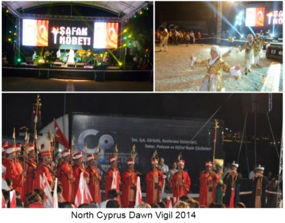 North Cyprus Dawn Vigil 2014
