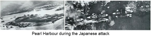 Pearl Harbour after the Japanese attack 1