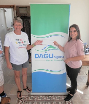 Novber Dagli of Dagli Sigorta who donated 1,000TL to our Step Out For Tulips challenge
