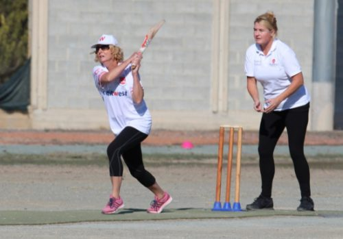 trncs-lynn-holman-batting-and-limassols-kirstin-van-der-laan-wicket-keeping