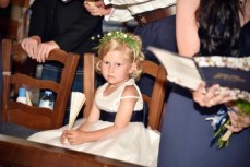 One of the flower girls