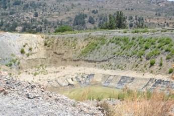 Rainwater collection dam