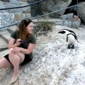 Samantha with a Penguin