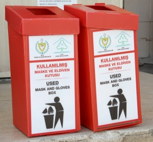 Waste Bins for disposal of medical masks and gloves (1)