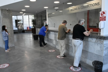 Covid-19 measures being taken in Girne Municipality city hall (1)