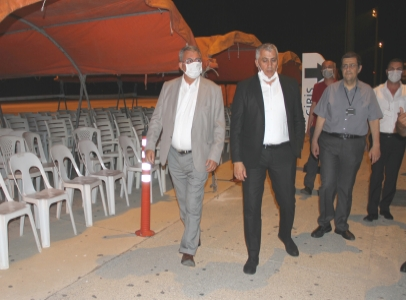 TRNC Ministers inspect Ercan COVID-19 security measures (8)