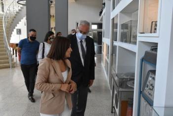 Girne Mayor Nidai Güngördü Visited BRT Publishing History Museum (1)
