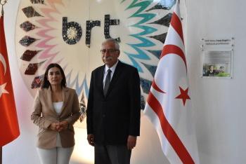 Girne Mayor Nidai Güngördü Visited BRT Publishing History Museum (4)