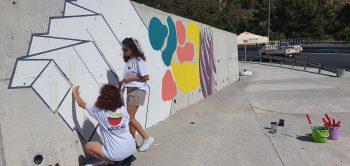 ARUCAD paints CIKLOS junction walls on the Girne Lefkosa road (2)