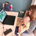Tracy introducing her granddaughter Thea to online Bridge