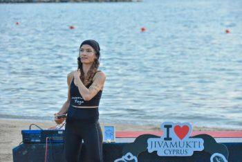 Yoga at sunset on Kervansaray public beach (10)