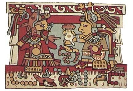 Aztecs drinking chocolate