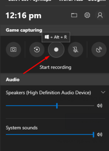 record videos on windows 10