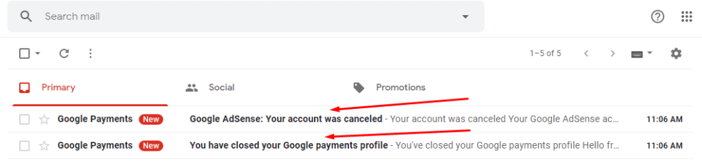your google account has been canceled pics