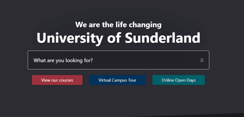 the university of sunderland homepage pics