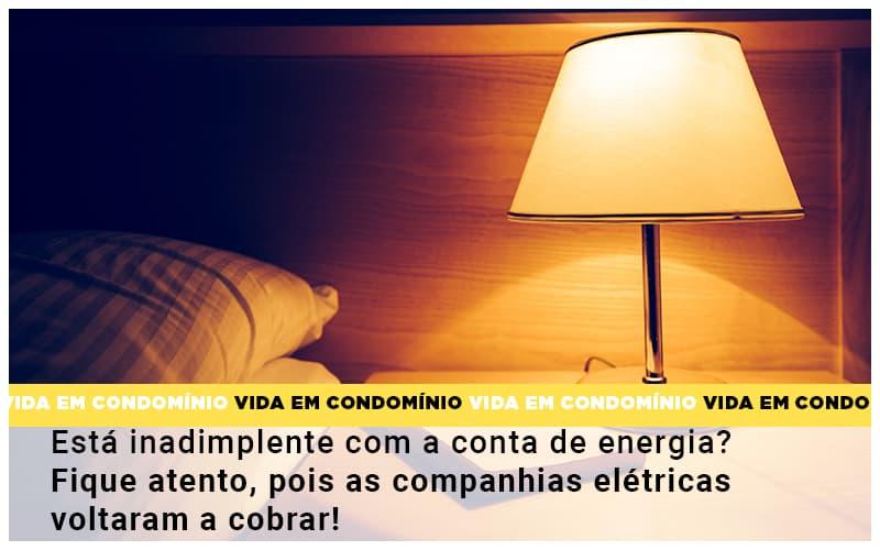 Esta Inadimplente Com A Conta De Energia Fique Atento Pois As Companhias Eletricas Voltaram A Cobrar - Cysne Administradora de bens e Condomínios