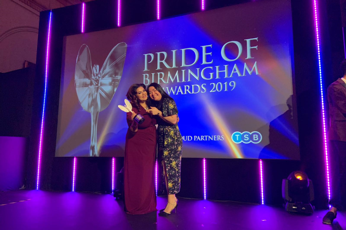 Founder of Cysters defies trolling and gets Special Recognition at Pride of Birmingham Awards