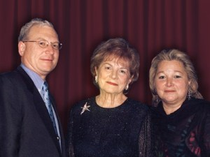 Philip, Vivian and Connie Milstein
