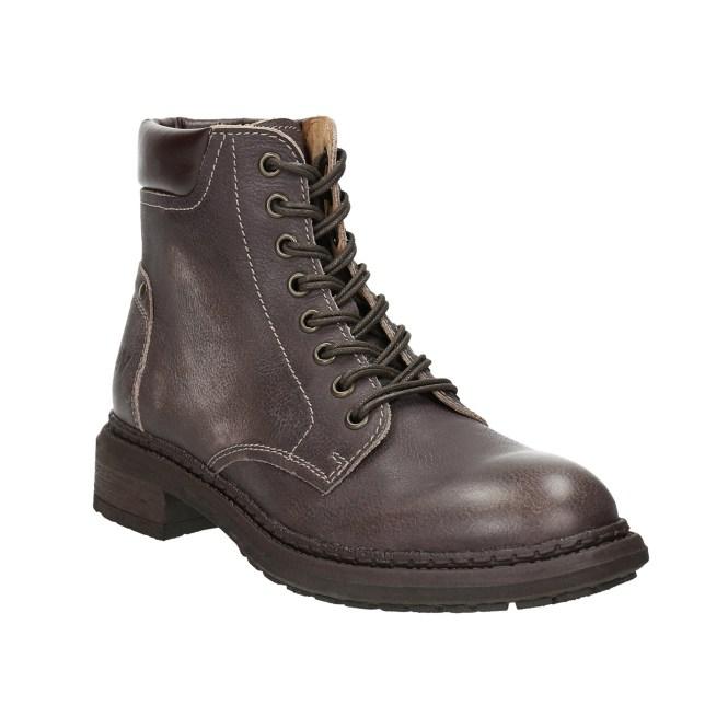 Dámské kožená kotníková obuv