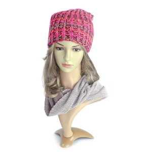 czapka-damska-różowa