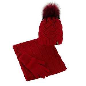 czapka-welniana-komin-rekawiczki-czerwony