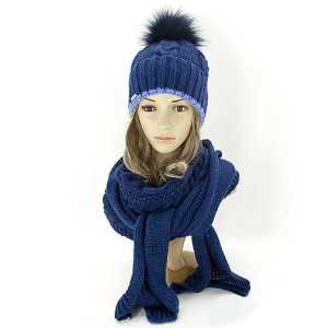 Zimowy-komplet-damski-czapka-z-pomponem-szalik