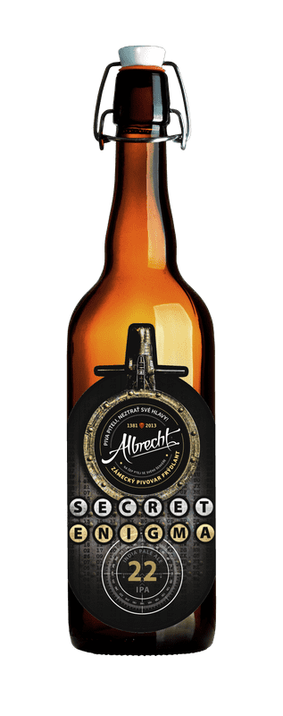 albrecht secret enigma 22 beer bottle