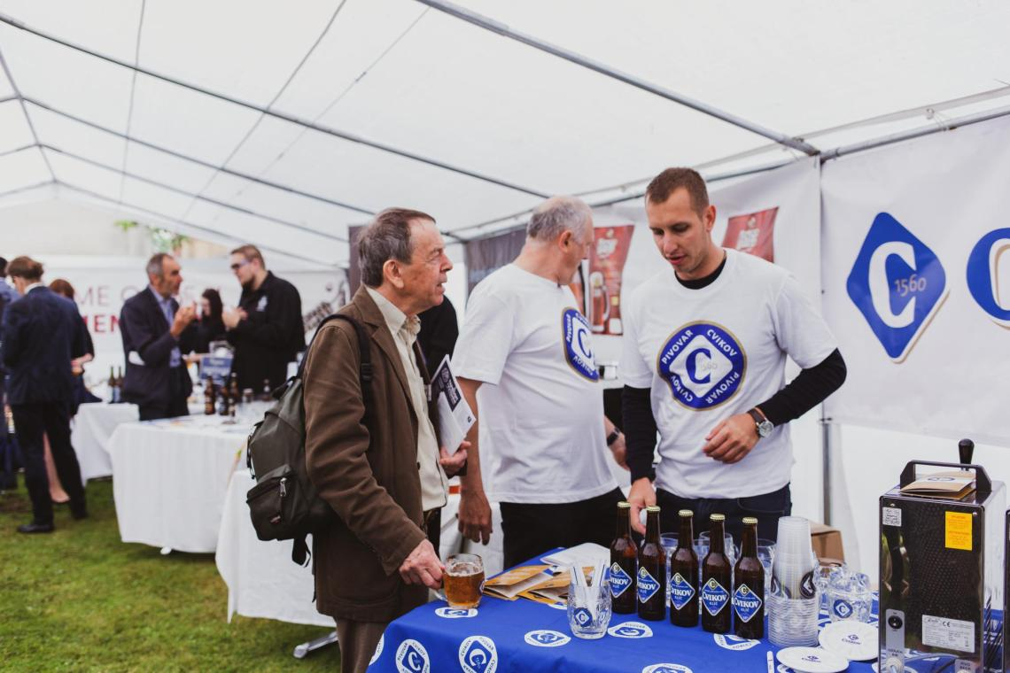 cvikov brewey showcasing their beer at the czech beer day 2019