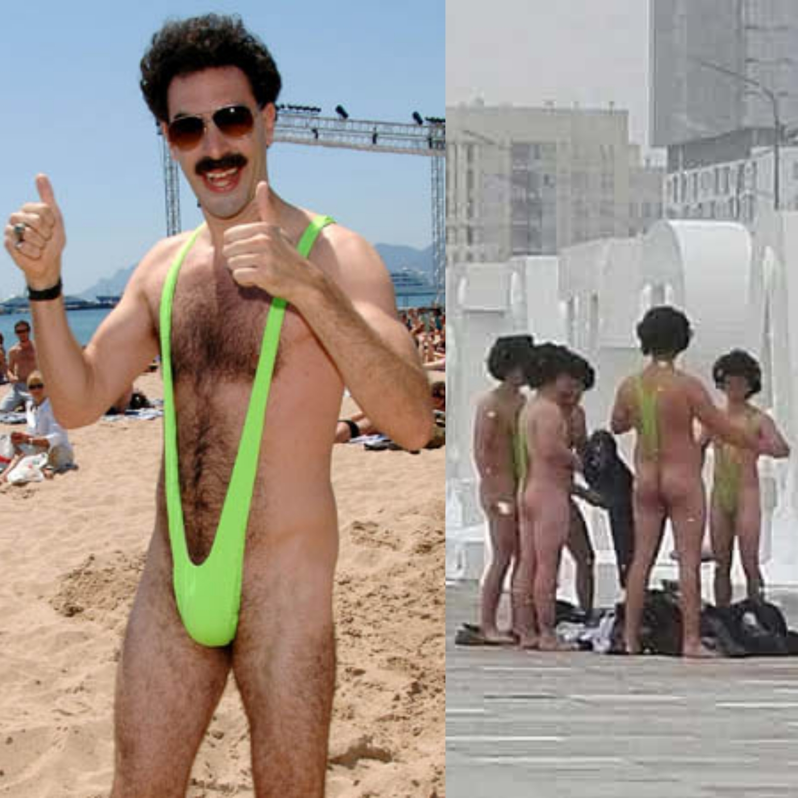 8ec7888afb Sacha Baron Cohen 'Is a Very Nice' Man – Offers to Bail Out Czech Tourists  Detained in Kazakhstan for Heinous Crime of Wearing 'Borat' Mankini's in  Public