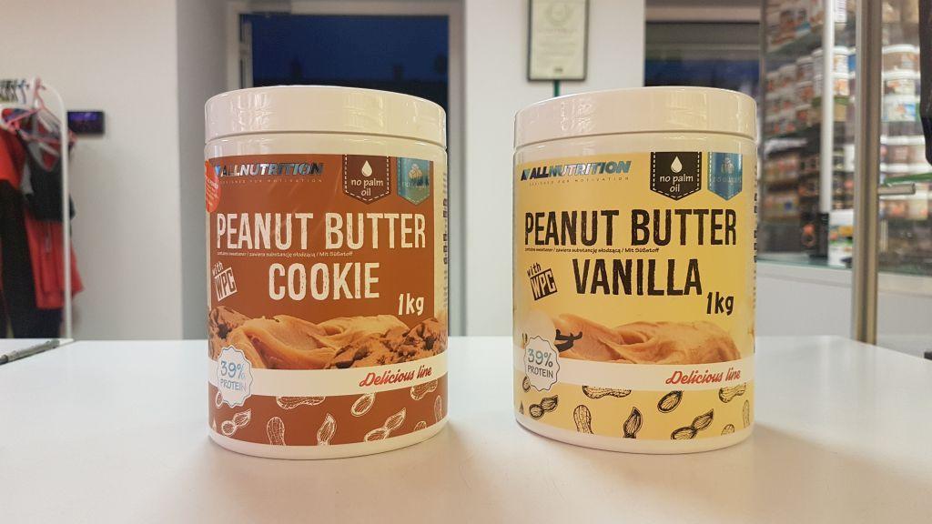 Darmowa degustacja- masła orzechowe All Nutrition z dodatkiem białko ( smaki :ciasteczko, wanilia) w Muscle Power Częstochowa