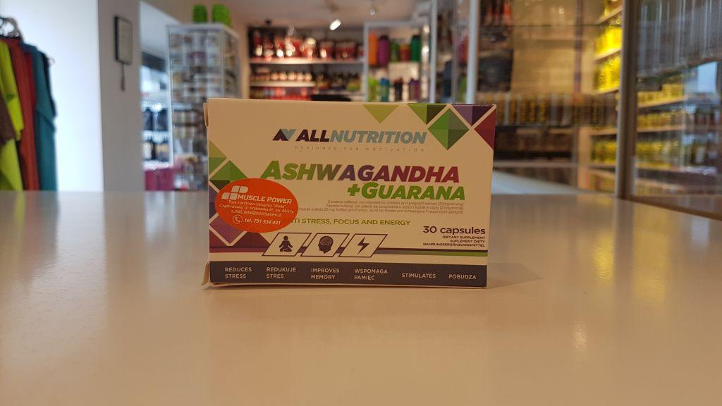 Aswagahdha+Guarana - All Nutrition Muscle Power Częstochowa - sklep z suplementami i zdrową żywnością