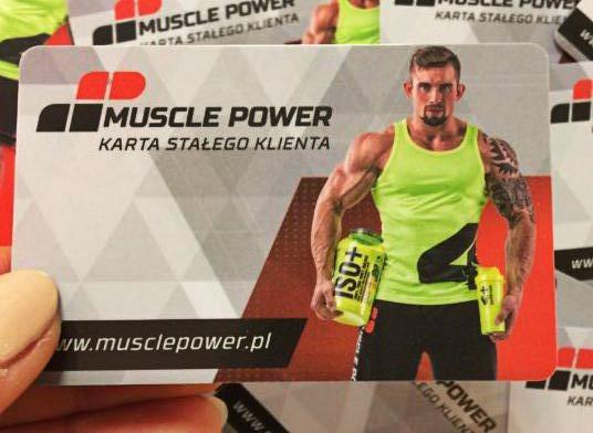 Karta Stałego Klienta Muscle Power Muscle Power Częstochowa - sklep z suplementami i zdrową żywnością