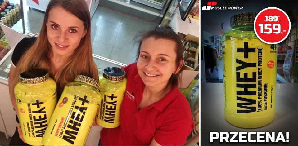Białko WHEY+ za jedyne 159,- Muscle Power Częstochowa - sklep z suplementami i zdrową żywnością