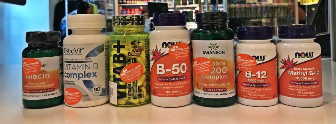 Witaminy B- NOW foods, 4+ Nutrition, Swanson, Ostrovit