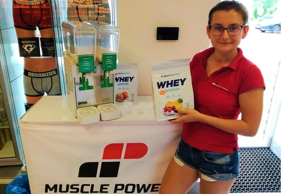 Degustacja nowych smaków odżywki białkowej AllNutrition w Muscle Power