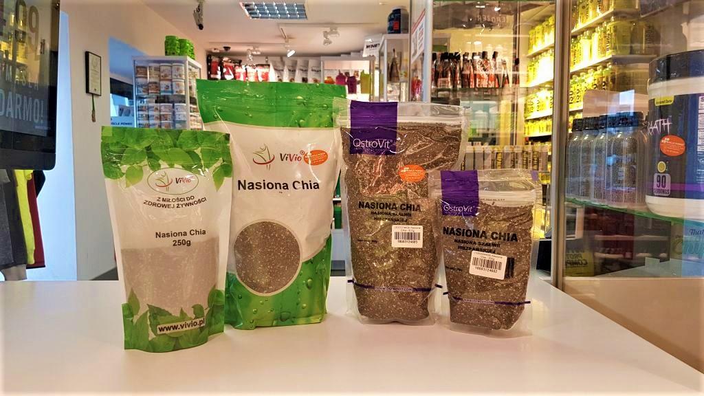 Nasiona Chia - Vivio, OstroVit Muscle Power Częstochowa - sklep z suplementami i zdrową żywnością