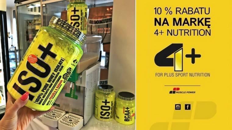 Degustacja odżywki białkowej marki 4+ Nutrition