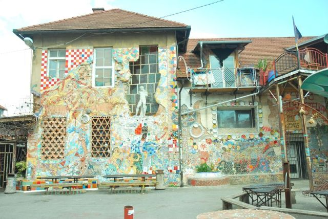 mozaika budynek